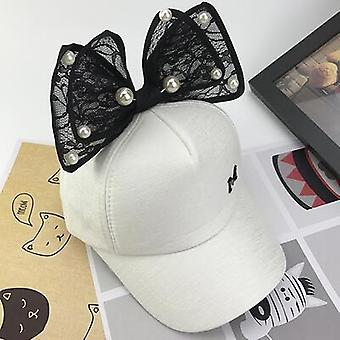 Cute Mesh Cap, Spring Summer Baseball Cap, Snapback Hip Hop, Rabbit Ear Pearl