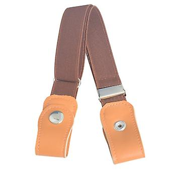 Elastic Without Trace - Buckle Free Imitation Leather Belt