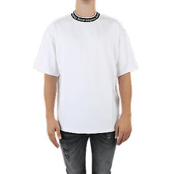 Acne Studios EXTORR LOGOTIPO RIB White TSHI000243OPTIC Top
