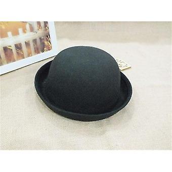 Fashion Vintage Fedora Cute Trendy Wool Felt Bowler Derby Floppy Hats