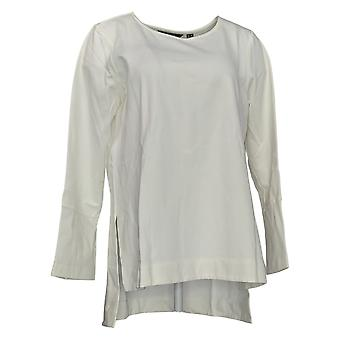 Du Jour Mujeres's Top Solid Knit Tunic With Cuff Detail Ivory A295653