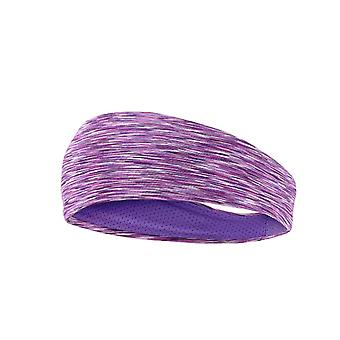 1 pc Simple style Running Hair Wrap for Women Man Washing Face Shower (Purple)