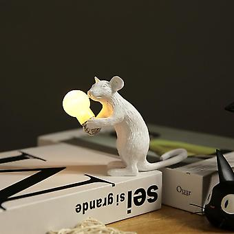 Mini Cute Led Night Lights - Nordic Resin Animal Rat And Mouse Table Lamp