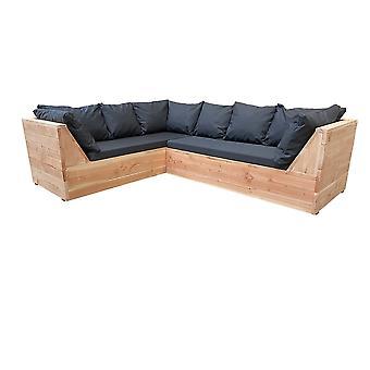 Wood4you - Loungeset 6 Douglaswood 200x260 cm - inkl. Kissen L-Form