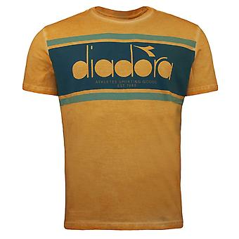 Diadora Orange Mustard Short Sleeved Crew Neck Mens T-Shirt 40002