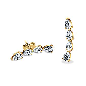 Earring Stud Electric 18K Gold and Diamonds
