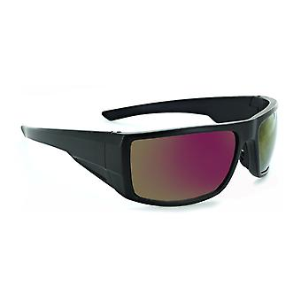 Pursuit - ergonomic wrap frame with high impact smoke lens sunglasses