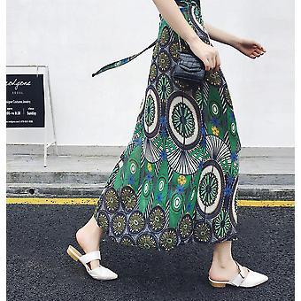 High Waist Floral Print Summer Women's  Skirt Maxi