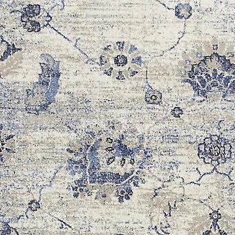 3' x 5' Polypropyleen Grey of Blue Area Rug