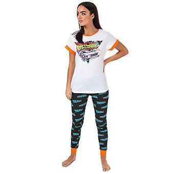 Women's Universal Pictures Takaisin tulevaisuuteen Pyjamat valkoisessa