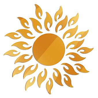 Removable 3d Sunshine, Sun Flower, Decorative Mirror Wall Sticker, Home