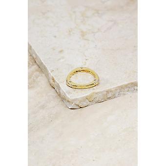 نجمة منفضة 18k الذهب مطلي خاتم