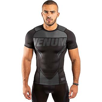 Venum One FC Impact Short Sleeve Rash Guard Noir/Noir