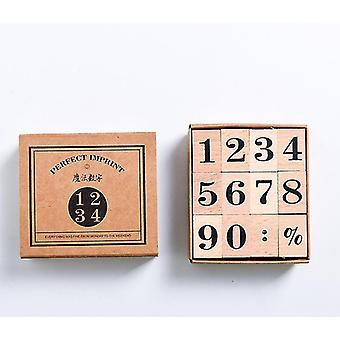 Month Week Planner Wooden Stamp