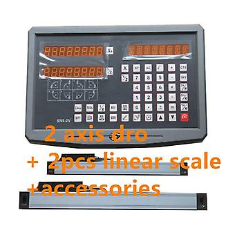 Digital Readout With 2pcs  Linear Scale / Linear Encoder / Linear Ruler