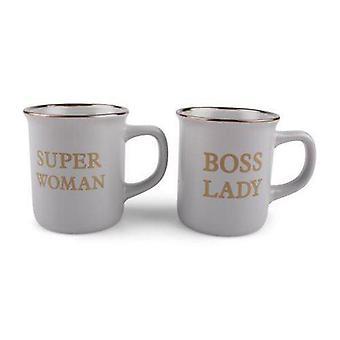 Super Woman & Boss Lady mugg 2-pack