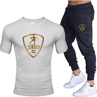 Men's Sets T Shirts+pants Two Pieces Sets, Casual Tracksuit, Homme/Femme Costume