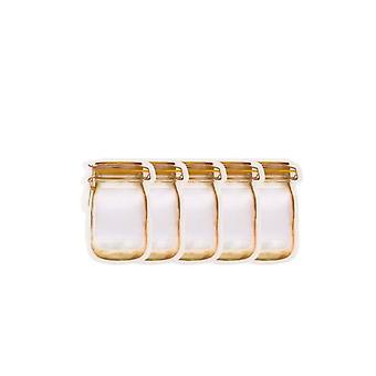 Portable Mason Jar Bags Reusable Seal Food Saver Storage Organizer Nuts Candy