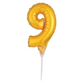 "Foil Gold Cake Balloon - 9 -150mm (6"") - single"