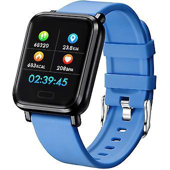 Slim horloge met waterdichte IP68 Sport Stappenteller Calorieën voor Huawei Xiaomi Samsung Android iPhone