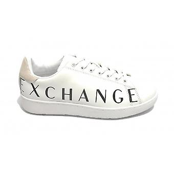Men's Armani Exchange Sneakers In Leather White Color With Logo U21ax03