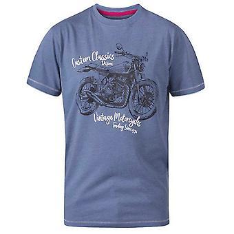 Duke Mens Conor D555 camiseta clásica de motocicleta personalizada