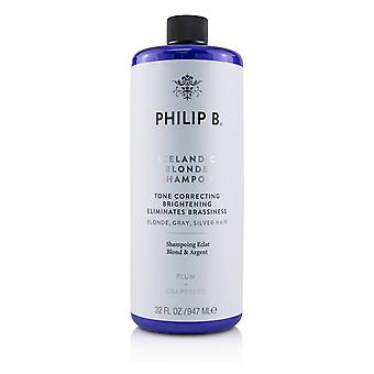 Icelandic blonde shampoo (tone correcting brightening eliminates brassiness blonde, gray, silver h 226062 947ml/32oz