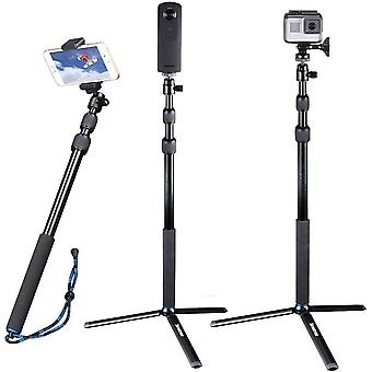 DZK Telescoping Selfie Stick Compatible for GoPro Max/Hero 9/8/7/6/5/4/3+/3/Session/GOPRO