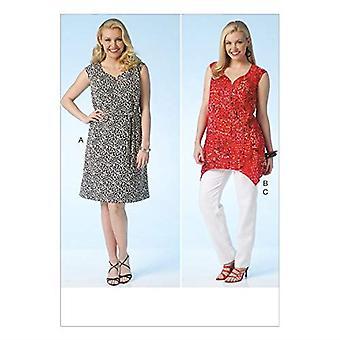 Kwik Sew Sewing Pattern 4115 Womens Misses Dress Tunic Pants Size 1X-4X