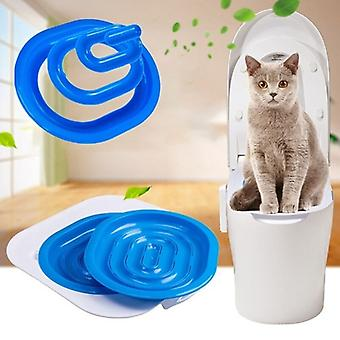 40*40*3.5cm Plastic Cat Toilet Training Kit Litter Box Puppy Cat Litter Mat Cat Toilet Trainer Toilet Pet Cleaning Cat Training