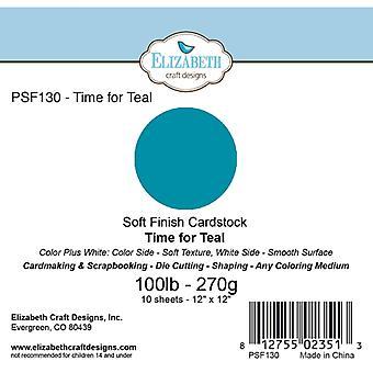 Elizabeth Craft Designs - Soft Finish Cardstock Time for Teal