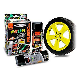 Flytande gummi för bilar Foliatec Gul 400 ml (2 st)