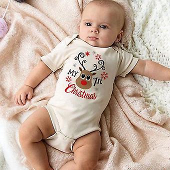 Joulu isä&äiti t-paita, äiti isä, ja vauvanvaatteet