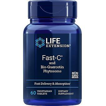 Life Extension Fast-C and Bio-Quercetin Phytosome Vegitabs 60