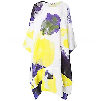 Thanny Draped Linen Dress