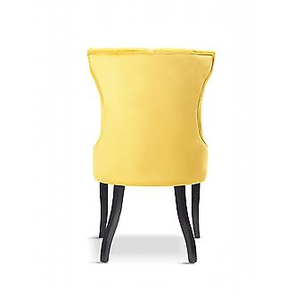 x4 Victoria Velvet Yellow Dining Chair