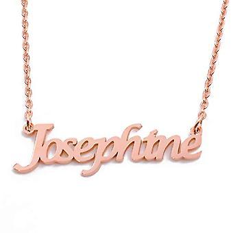 KL Josephine custom nimi Rose kullattu kaulakoru 18 karattoja säädettävä ketju 16 19 cm.