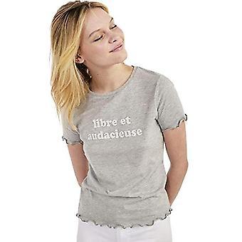 Naf Naf OLIBERTAD MC T-Shirt, Grey, L Woman