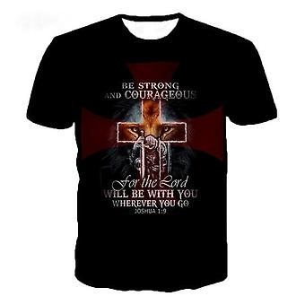 Ritter Templer 3d gedruckt T-shirt (7 verfügbare Designs)