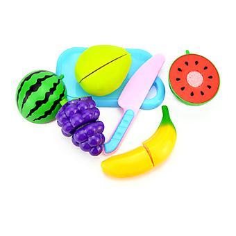 6Pcsキッズキッチンキットは、果物の教育玩具a61を切断する遊びをふりをします