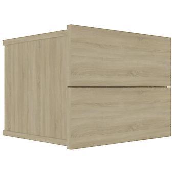 vidaXL Comodino Sonoma Oak 40 x 30 x 30 cm Truciolato