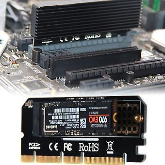 Pci-e 3.0 16x M.2 adaptér hliníkový shell LED solid state disk rozširujúca karta