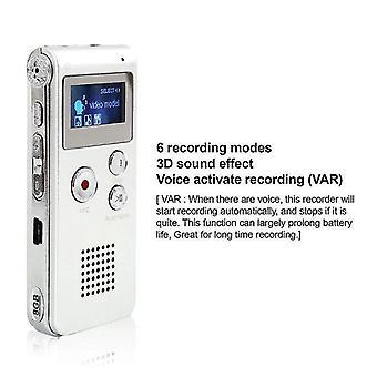 لإعادة الشحن 8GB مسجل رقمي ديكتافون MP3 WS22376