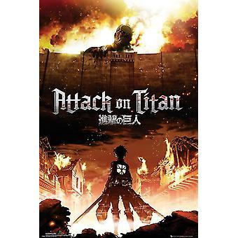 Attack On Titan Key Art Maxi Poster