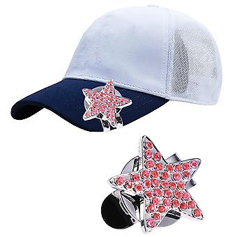 Golf Hat Clip, Marker Ball, Aiming Professional Rhinestone Creative Cap Clips,