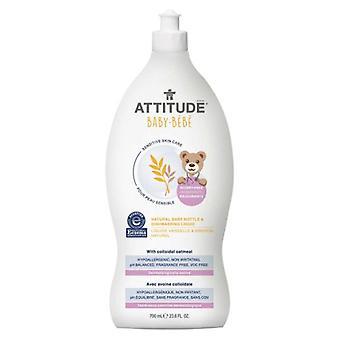Attitude Sensitive Skin Care Natural Baby Bottle & Dishwashing Liquid - Baby, 23.6 Oz