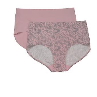 Rhonda شير سراويل 2 حزمة الجسم الناعم وجيزة الوردي الرمادي 725695