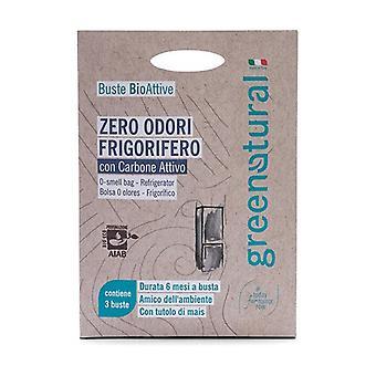 Zero Odor Refrigerator Bioactive Bags 3 packets