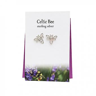 Celtic Bee Stud Earrings Card by The Silver Studio