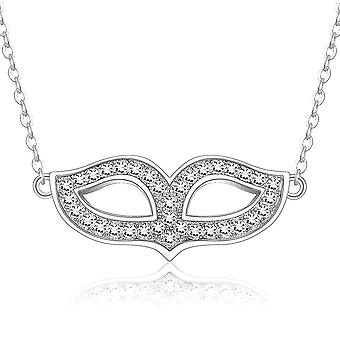 Women Necklace Mask Artificial S925 Clavicle Pendant For Party